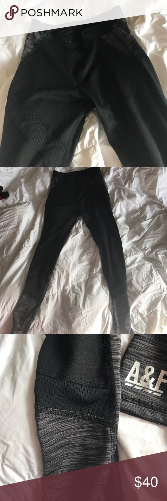 Abercrombie and fitch active mesh leggings Active leggings, mesh details, zipper pocket on back, banded. Never worn. Pants Leggings