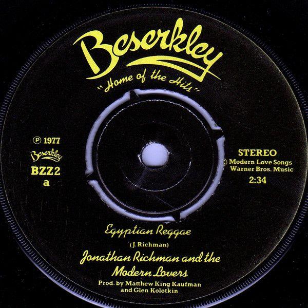Jonathan Richman & The Modern Lovers - Egyptian Reggae (Vinyl) at Discogs