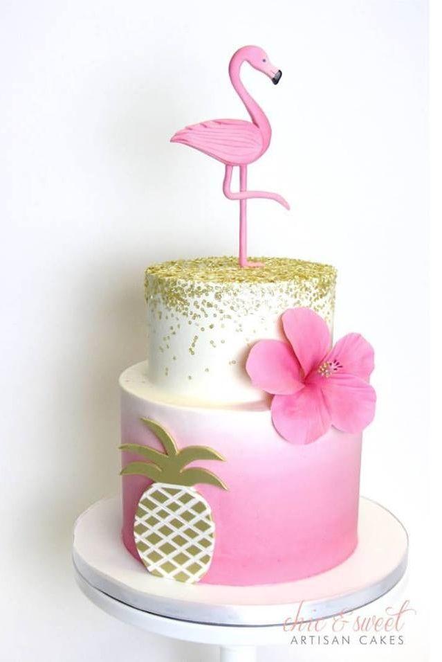 flamingo pineapple cake girly pinterest anniversaires g teau et flamand rose. Black Bedroom Furniture Sets. Home Design Ideas