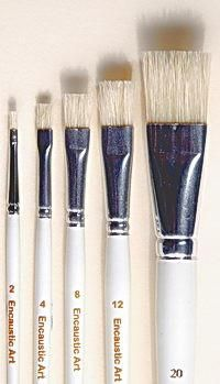 Encaustic Art: Hog Hair Brushes (Set of 5)