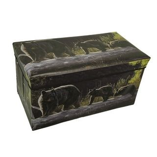 Shop for Rustic Black Bear Forest Folding Storage Chest/Ottoman 27 Inch. Get free shipping at Overstock.com - Your Online Furniture Outlet Store! Get 5% in rewards with Club O! - 23062858