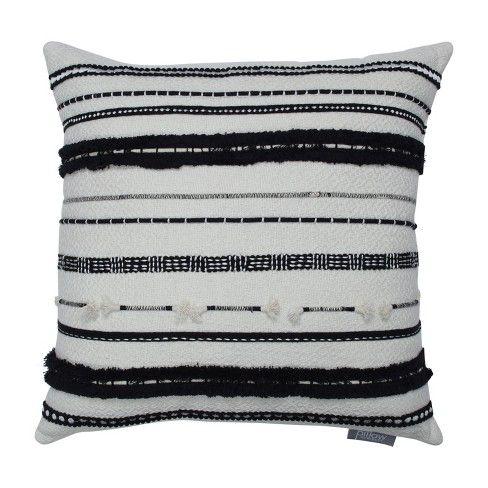 Line Works Square Throw Pillow Black White Pillow Perfect