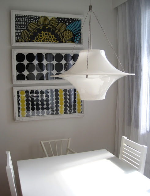 From Alman napa blog, framed fabric