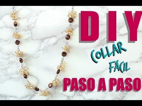 (49) DIY COLLAR FÁCIL DE POMPONES! Paola Herrera Cómo hacer joyería - YouTube