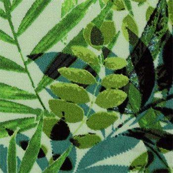 Viscose+jersey+grøn+med+palmeblade