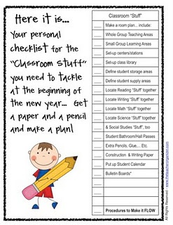 Where was this when I got my new room??? Setting up a new class checklist