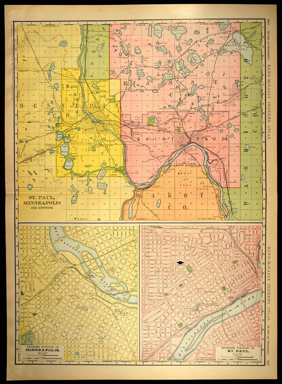 Minneapolis Map EXTRA LARGE St Paul Street Map Minneapolis Map