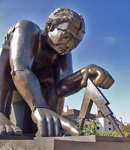 Newton (after Blake), by Eduardo Paolozzi, Scottish artist