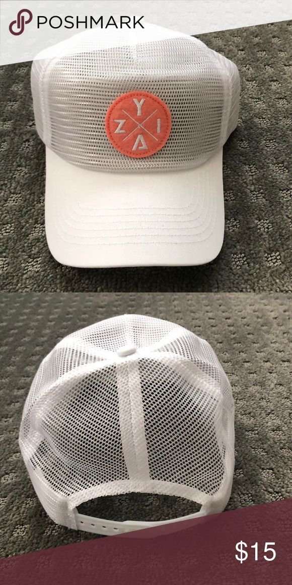 Zyia mesh hat Zyia (workout brand) white mesh hat. Brand new never been worn. Zyia Accessories Hats