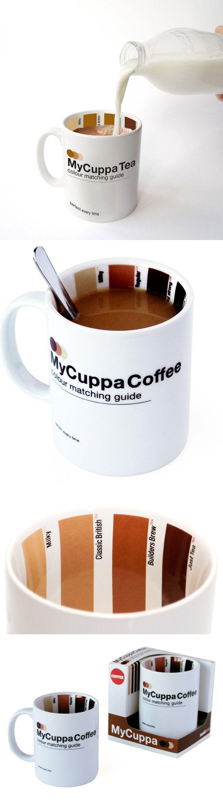 A SuckUk criou a MyCuppa, uma xícara com uma tabela de pantone que te permite ver se o café está do jeito que você gosta. Há também a opção para chás, para aqueles que gostam de bebê-los com leite, como os ingleses.