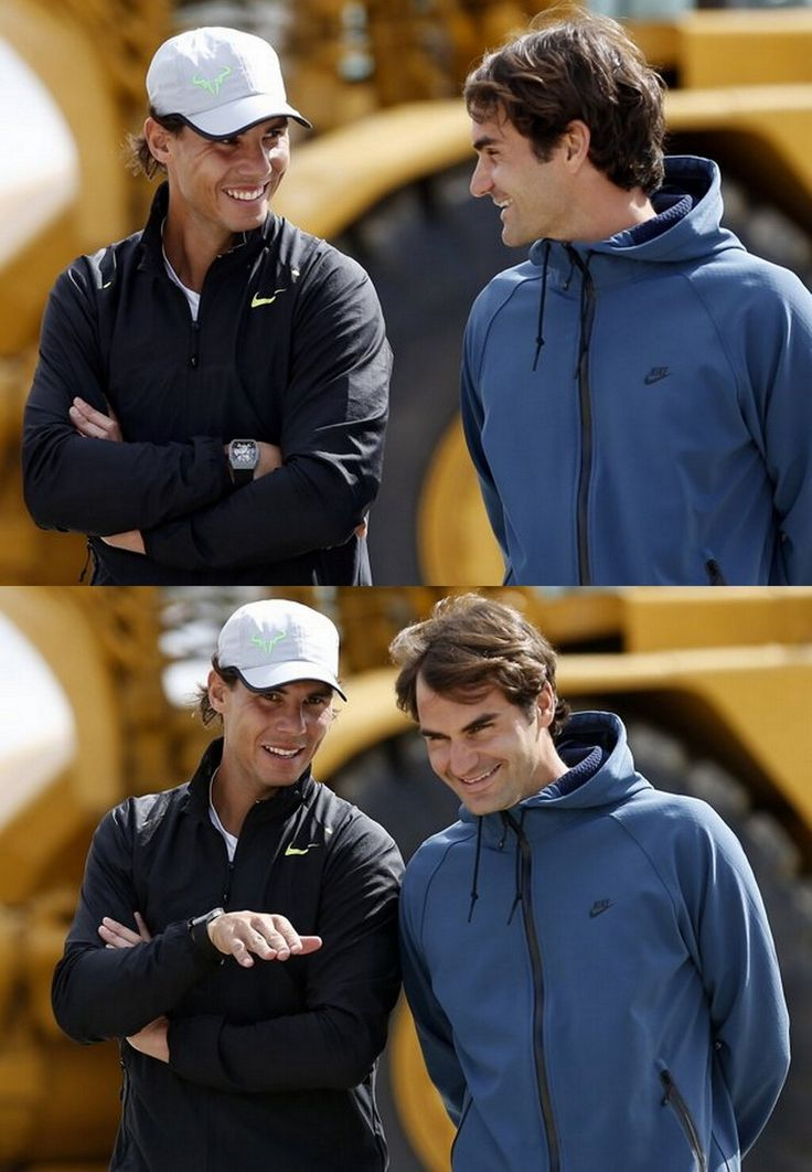 Rafael Nadal and Roger Federer ...talking how easy and smooth it is using Powder Kegs! check it out at www.powderkegsusa.com