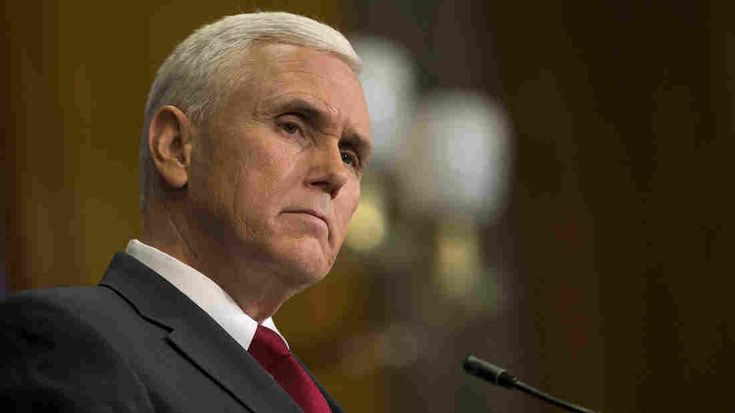 Indiana Gov. Mike Pence speaks during a press conference March 31, 2015, at the Indiana State Library in Indianapolis.