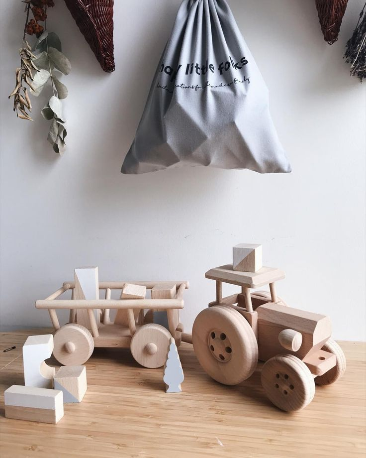 Our cute wooden tractors LUXE are back in stock! If you are looking for a special gift set mix them with our blocks. Free UK delivery for orders 50 and over!
