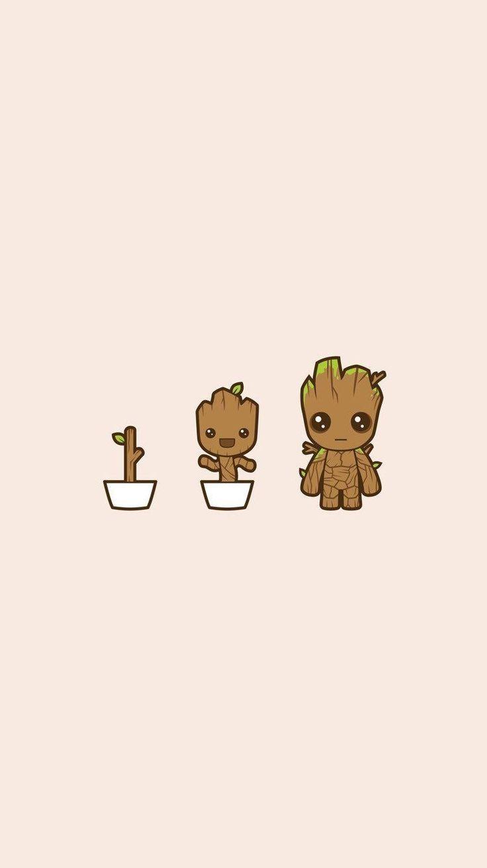 Groot Wallpaper für Handy und iPhone Tumblr Cute Wallpaper