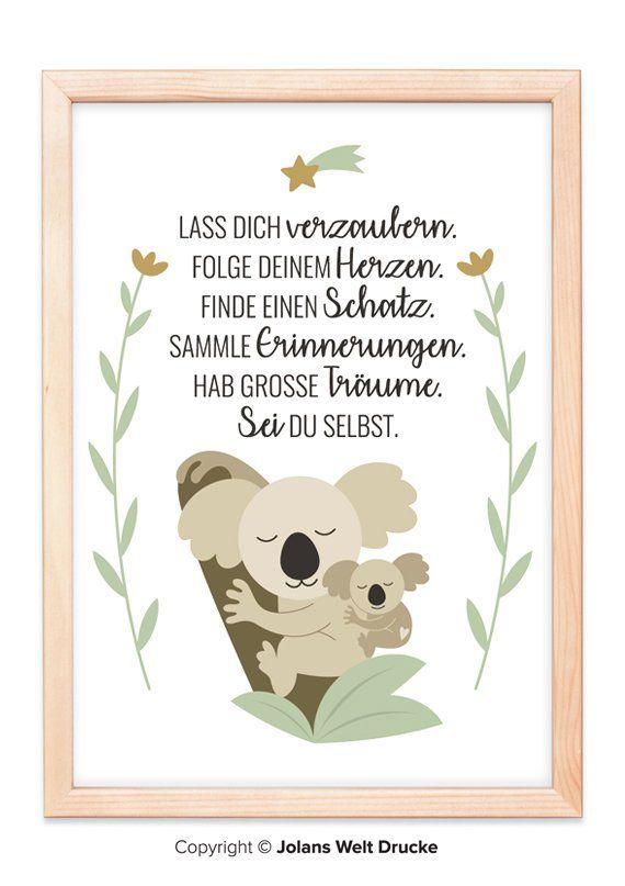 Koala children\'s room, art print, poster, gift, deco ...