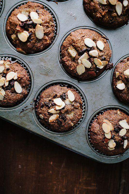 Pear + Cacao Nib Buckwheat Muffins // The Year in Food