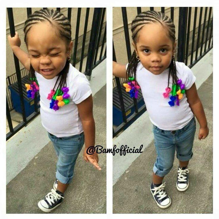 Mixed girls, hairstyles, braids