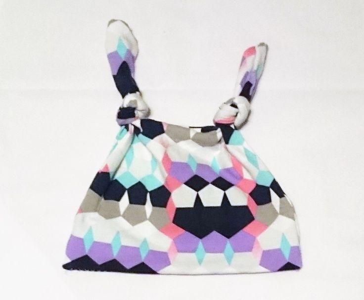 Two Knot Cotton Knit Baby Hat- Newborn-3months Size by TheCraftyMonkeyAU on Etsy