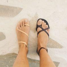 sapatos sandálias grego jesus cinta roupas de verão nude preto boho   – Minoan
