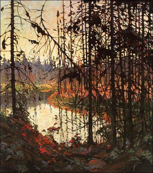 Northern River by Tom Thomson. One of the more realistic paintings I'd say from the Group of Seven