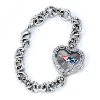 Official New England Patriots ProShop - Ladies Patriots Heart Watch