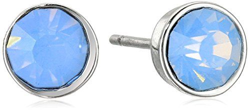 Lonna  Lilly Classics SilverToneBlue Stud Earrings ** Click on the image for additional details. (This is an affiliate link and I receive a commission for the sales)