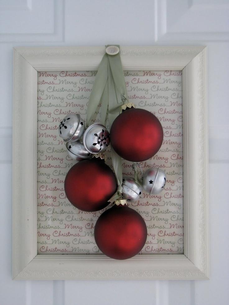 Jingle Bells Front Door Decor #tutorial