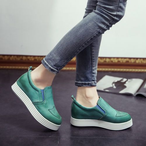 New-stylish-sneakers-Retro-round-toe-high-platform-shoes-womens-causal-Brouge