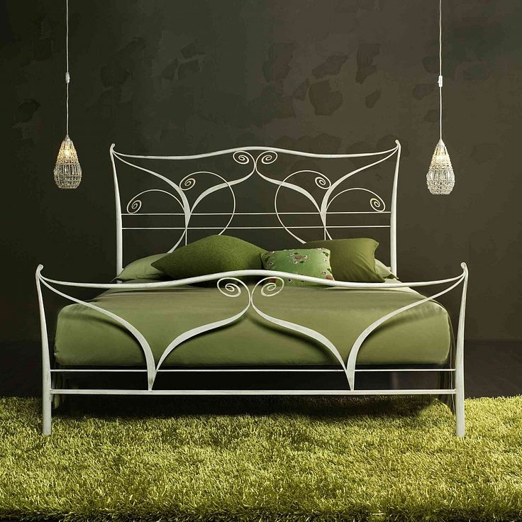 Best Wrought Iron Bed Klimt Myitalianliving Green And Grey 400 x 300