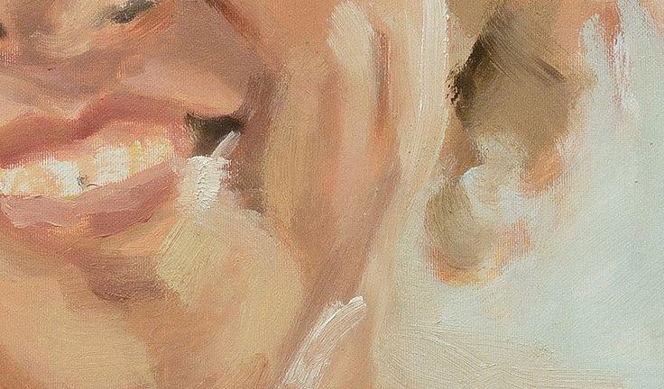 https://flic.kr/p/V4bJ3D | Marieke portrait study detail 2 | #philip knipscheer 2017 oil on canvas alla prima