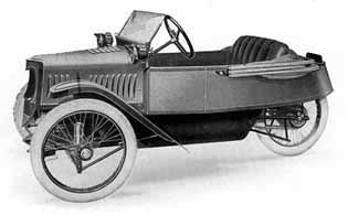 Standard Model (1926)    Built 1911-1915 and 1921-1928.  It was the cheapest model of all Morgans. Later it became also known as the New Standard Popular.
