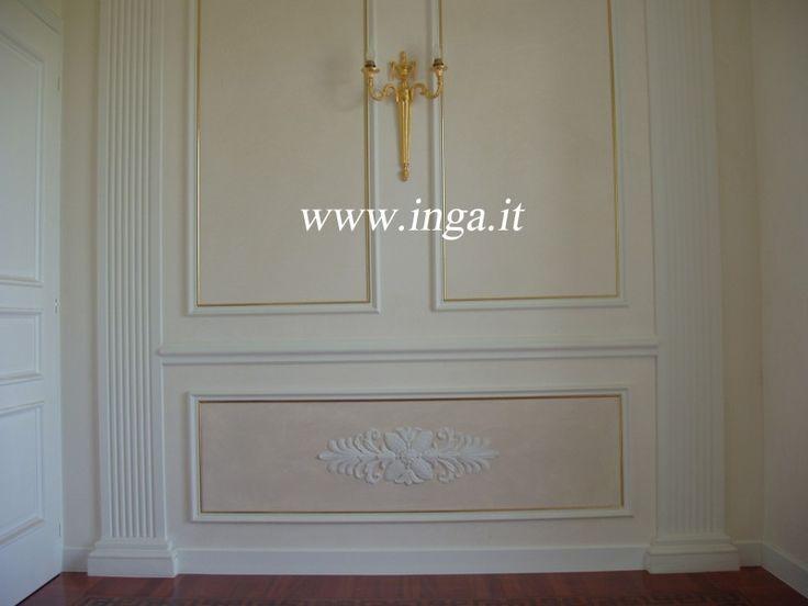 Realizzazioni | Inga Per valorizzare una parete la soluzione è utilizzare  cornici e fregi in gesso.