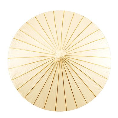 Paper Parasol with Bamboo Boning - Ivory - The Wedding Faire