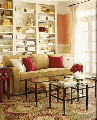 Sofa In Front Of Bookcases For Indiana Picker For