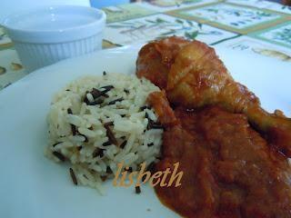 Pollo piccante Cajun con ramequin di riso long & wild, ovvero...