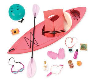 Lets go on an adventure across the lakes and paddle down the rivers with the Our Generation Kayak Adventure Set