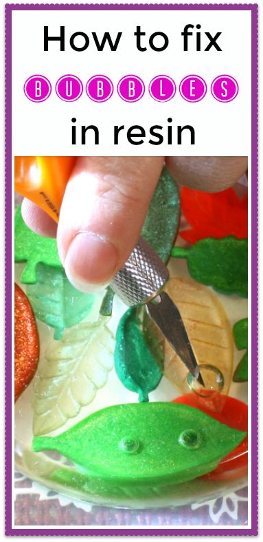 Bubbles in your cured resin casting?  This tutorial shows you how to repair.  Great ideas!