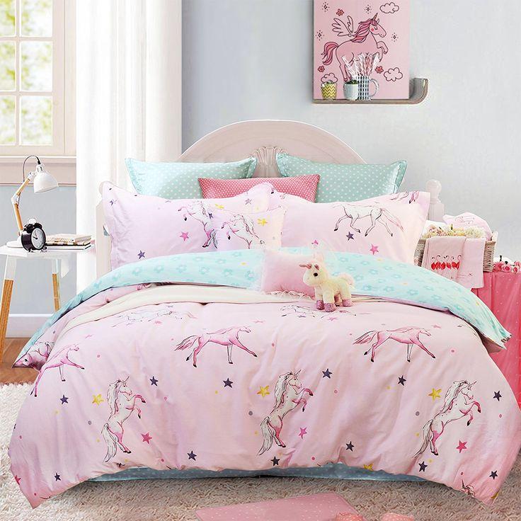 Brandream girls bedding sets full size pink