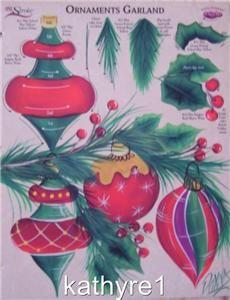 one stroke rtg   Donna Dewberry RTG Ornaments Worksheet One Stroke New   eBay