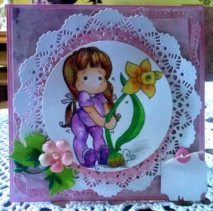 Kartka na urodziny dla dziewczynki....