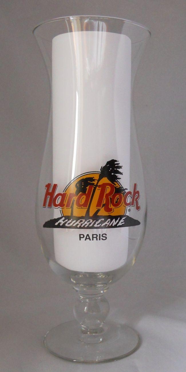 Hard Rock Hurricane Cafe Paris Glass Classic Logo Vintage Barware