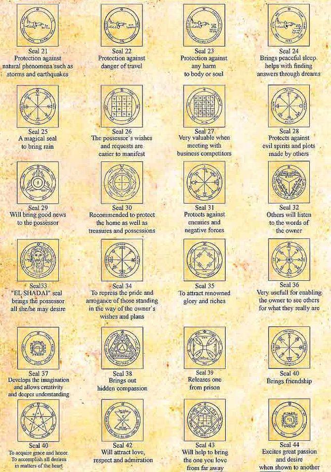 Sigils & Symbols:  King Solomon #Seals [21 - 44].