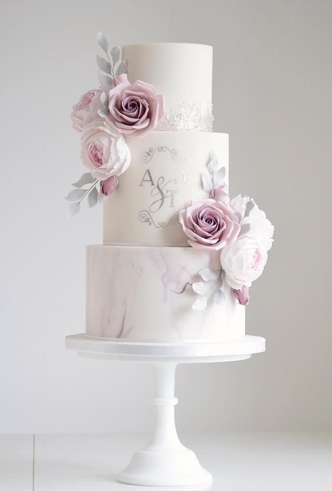39 Schwarz-Weiß-Hochzeitstorten-Ideen elegant Schwarz-Weiß-Hochzeitstorten ele…
