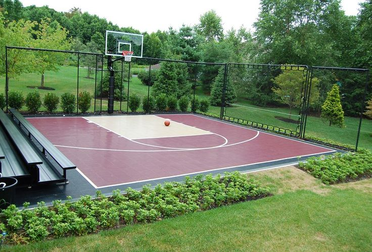 30x30 Basketball Court with viewing area so you can show off your moves! You don't get better sitting on the couch! Total Sport Solutions, Ontario and the Maritimes, Canada