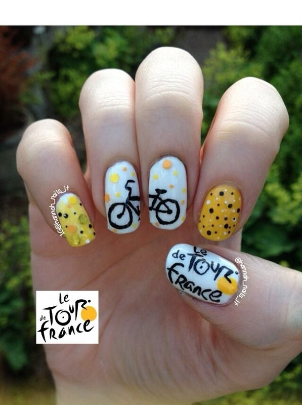 tour de france nail art - Google Search