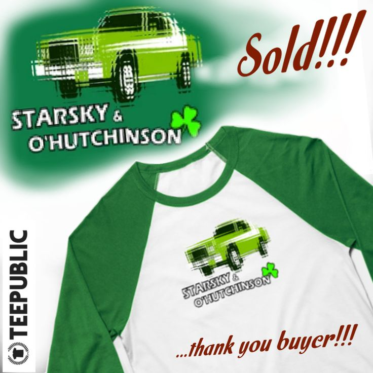 Sold!!!  ..thanks to the recent buyer of this 'Starsky & O'Hutchinson'  baseball tee from my TeePublic webshop. www.teepublic.com/baseball-tee/1220500-starsky-and-ohutchinson #stpatricksday #hutchinson #starskyandhutch #copshow #teepublic #baseballtee #irishamerican #irish #paddysday #shennanigans #car #cars #thankyou #tshirt #instadesign #instacar #instacars #carart #design #sold