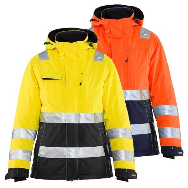 Blakläder Warnschutz Winterjacke Damen 4872 #genxtreme #blakläder #Warnschutzjacke #Winterjacke #yellow #orrange #new