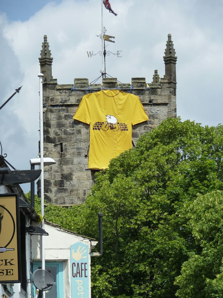 Even the church tower is getting excited