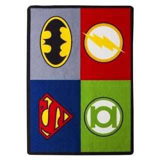 A too-super, Superhero Area Rug! How cool is this? Oh, and it's inexpensive, too!