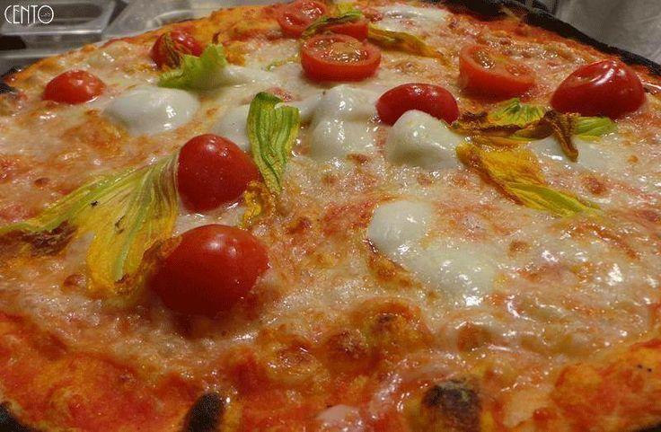 Pizza Cento ( Bufala, Pachino e Fiori di zucca )